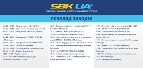 12 августа сотоится 4 этап чемпионата Украины по шоссейно-кольцевым мотогонкам